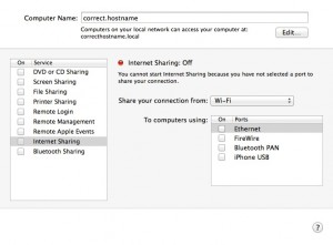 Hostname - Sharing
