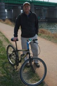 Me and my bike on the Hangang