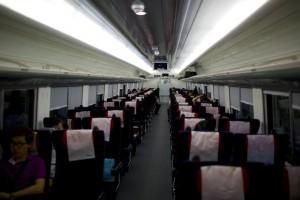 Interior of Saemaul Train.