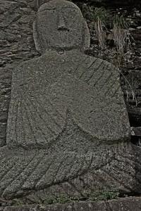 Stone Buda statue at Unjusa