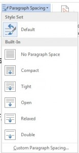 Word - Paragraph Spaceing