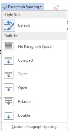 how to change microsoft word to double space