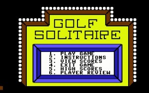 Golf Solitare, one of the many colorful games available for IMAGE BBS