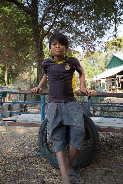 Boy by ox cart-1