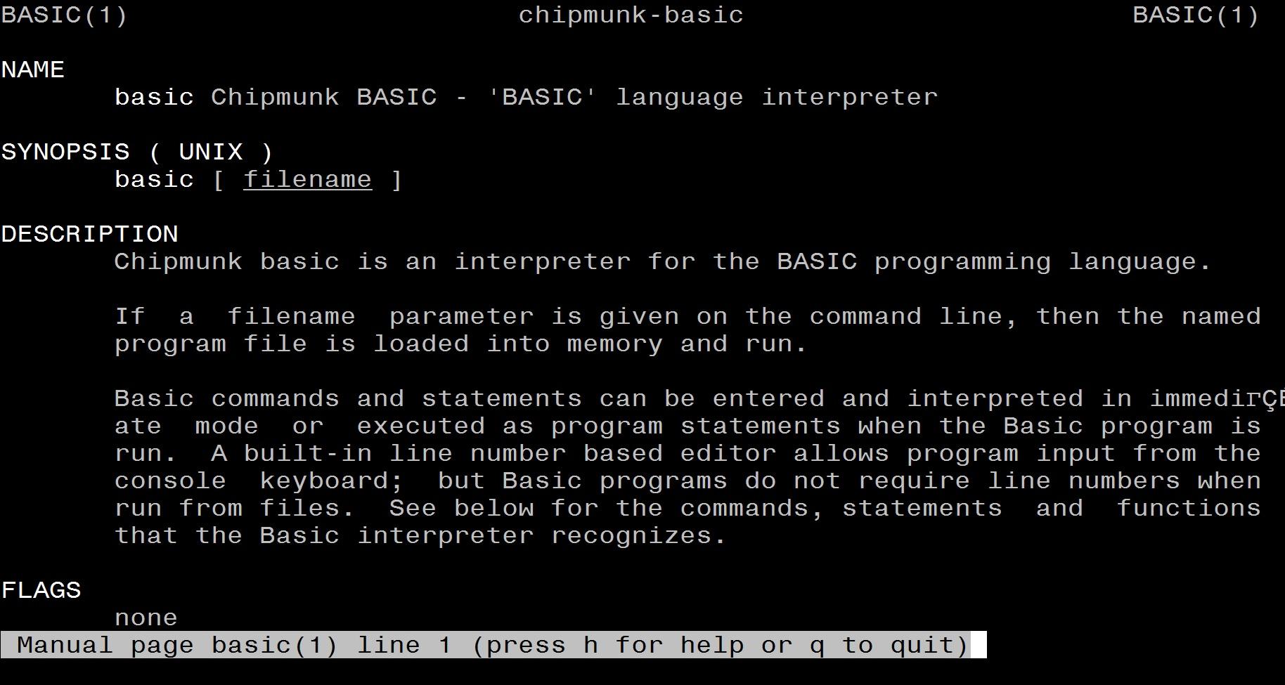 Installing Chipmunk BASIC on CentOS 7 - Brent's World