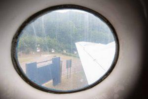 Sky train window